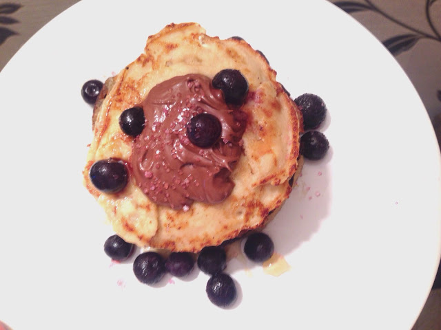 healthy homemade banana protein pancake recipe