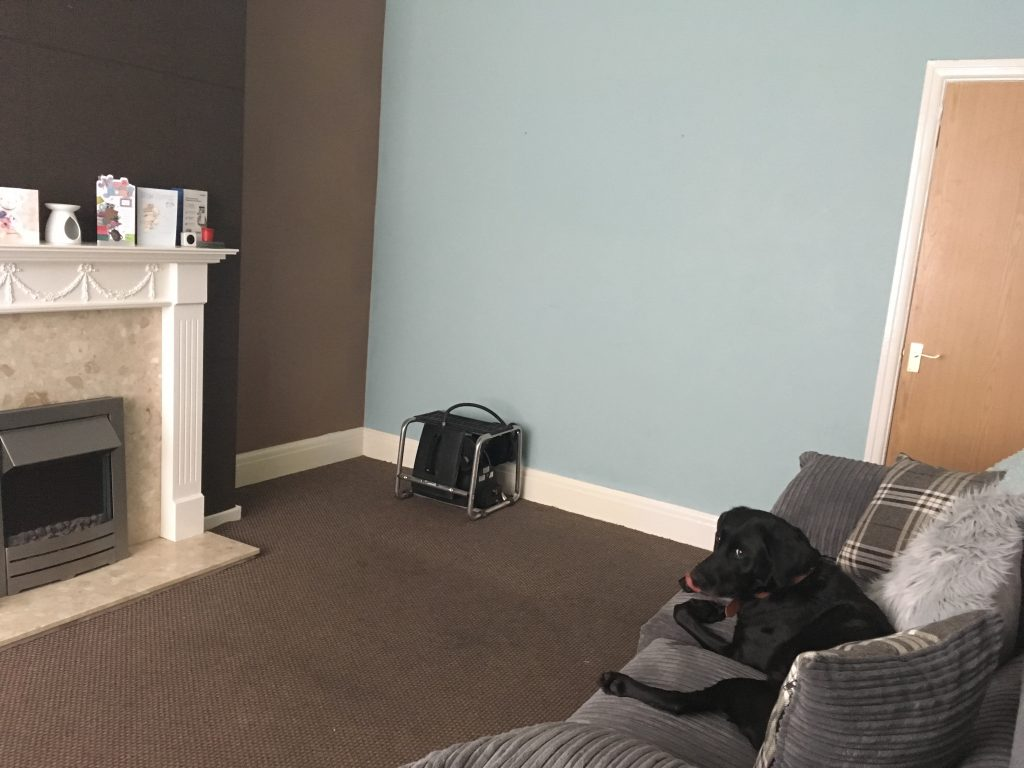 front room decoration before photo
