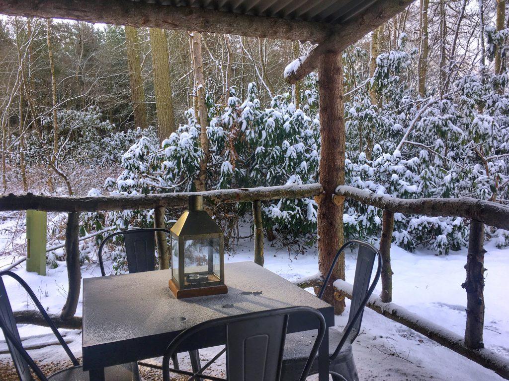 North Star Club Veranda Winter Snow