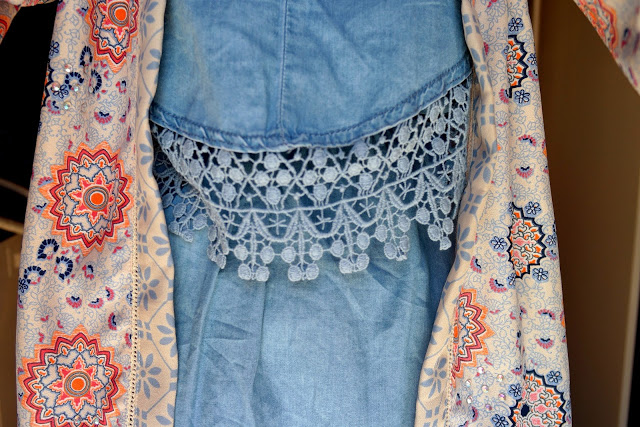 crochet denim dress pattern kimono summer outfit