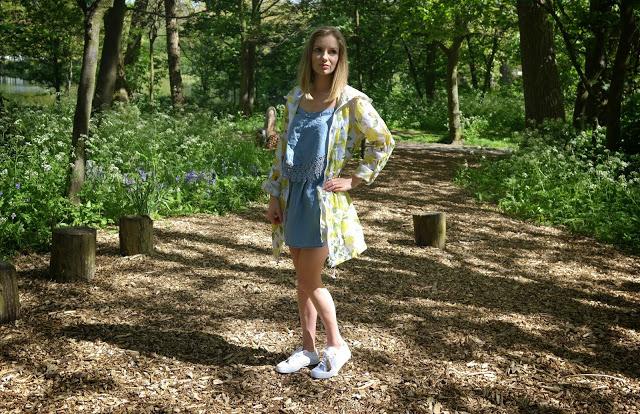 lemon festival mac crochet denim dress outfit