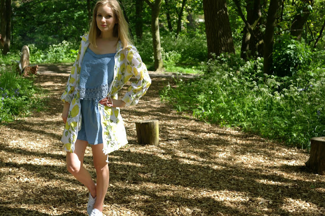 lemon mac festival outfit denim dress