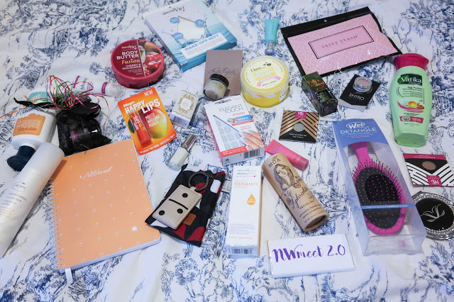 NWmeet Blogger Event Flat Lay Goody Bag