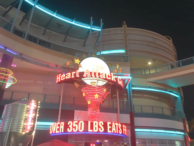 heart attack grill neon sign fremont st las vegas