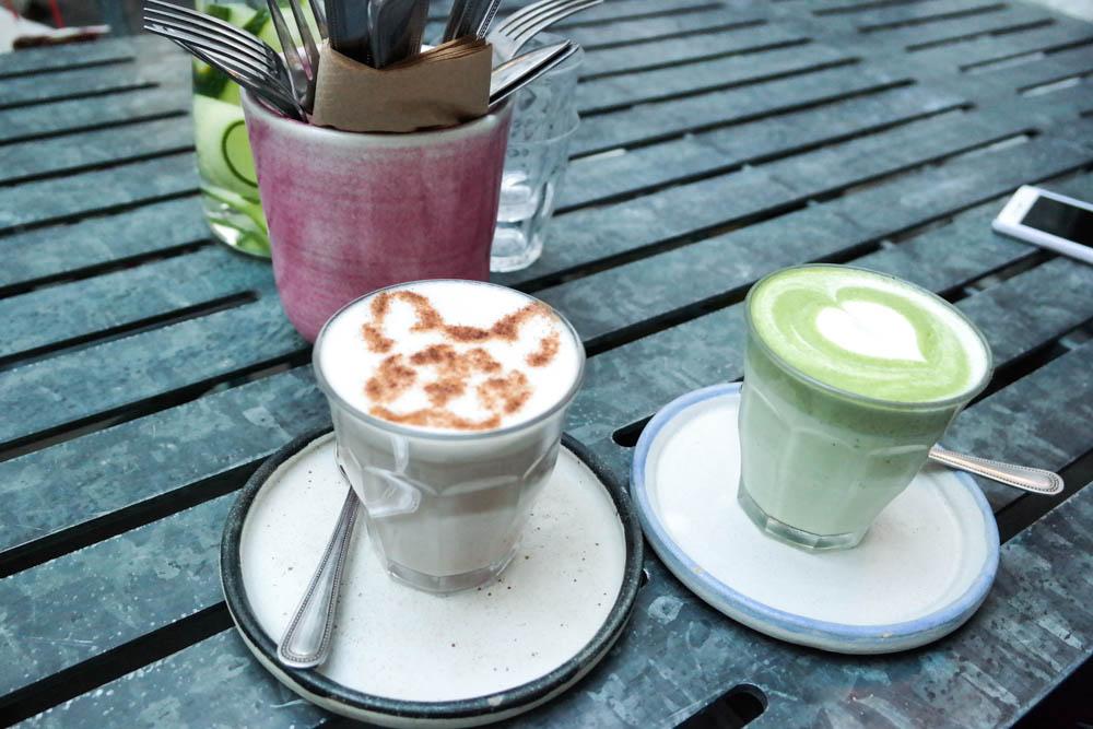 Farm Girl Notting Hill London Matcha Chai Latte
