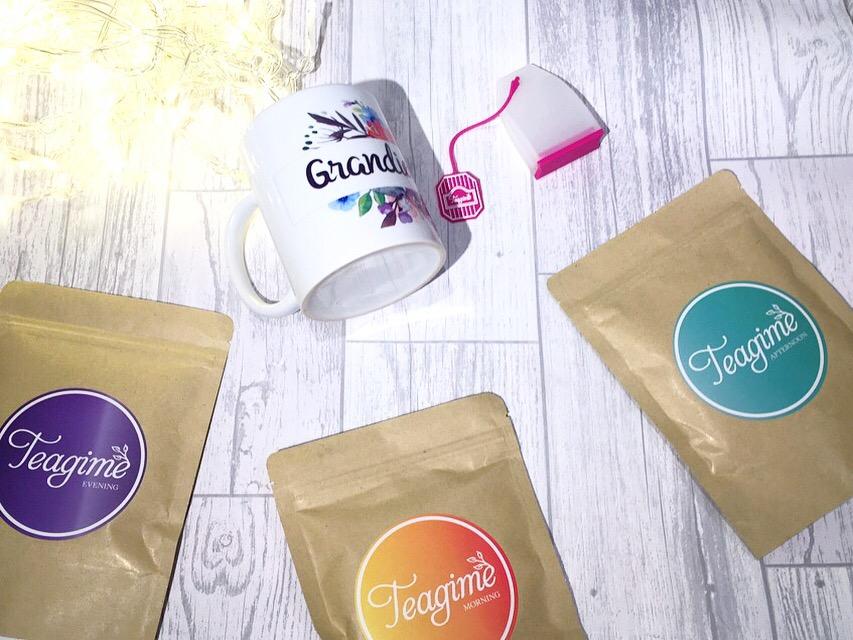 Teagime teatox tea subscription program flatlay