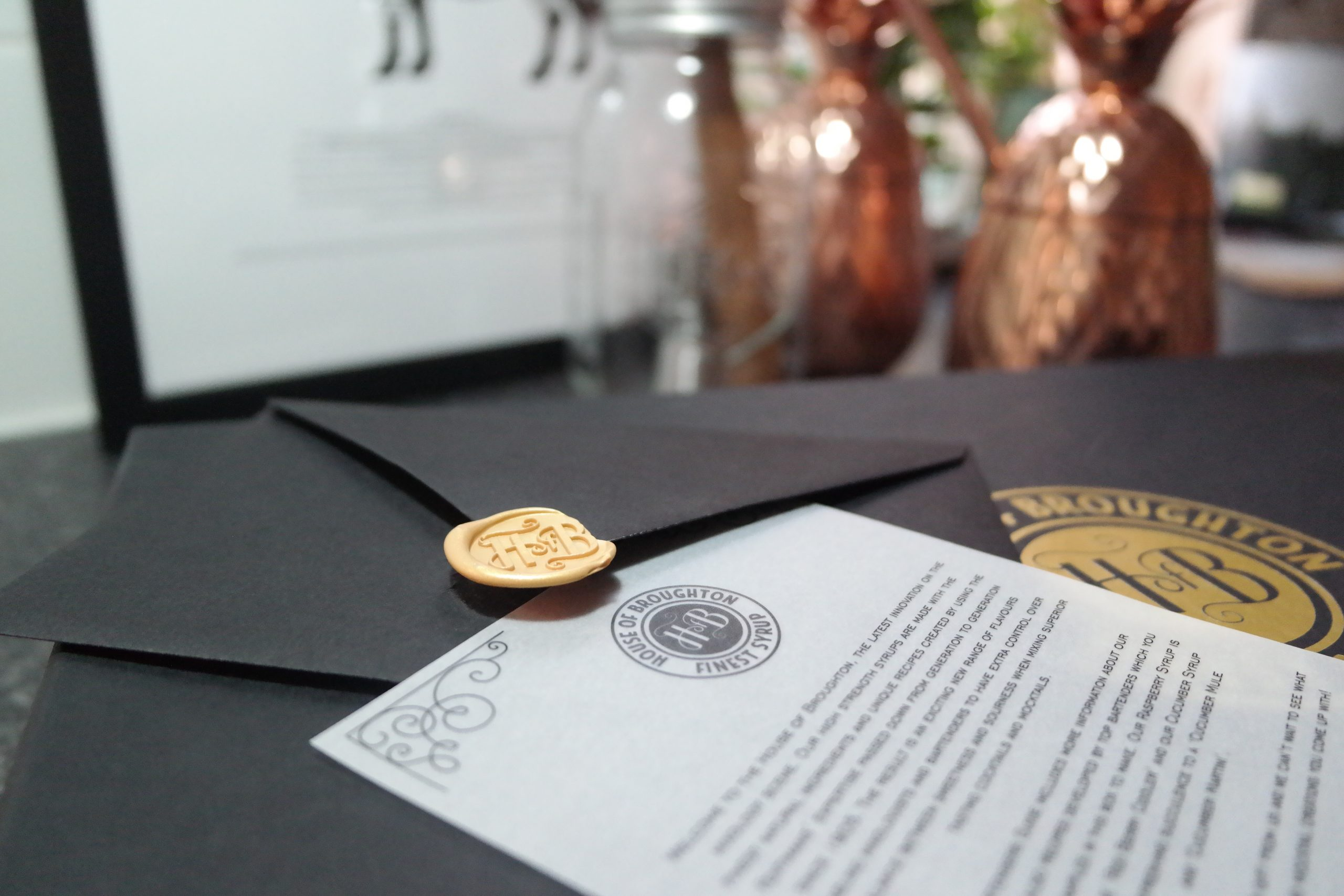 house of broughton syrups fentimans wax seal letter