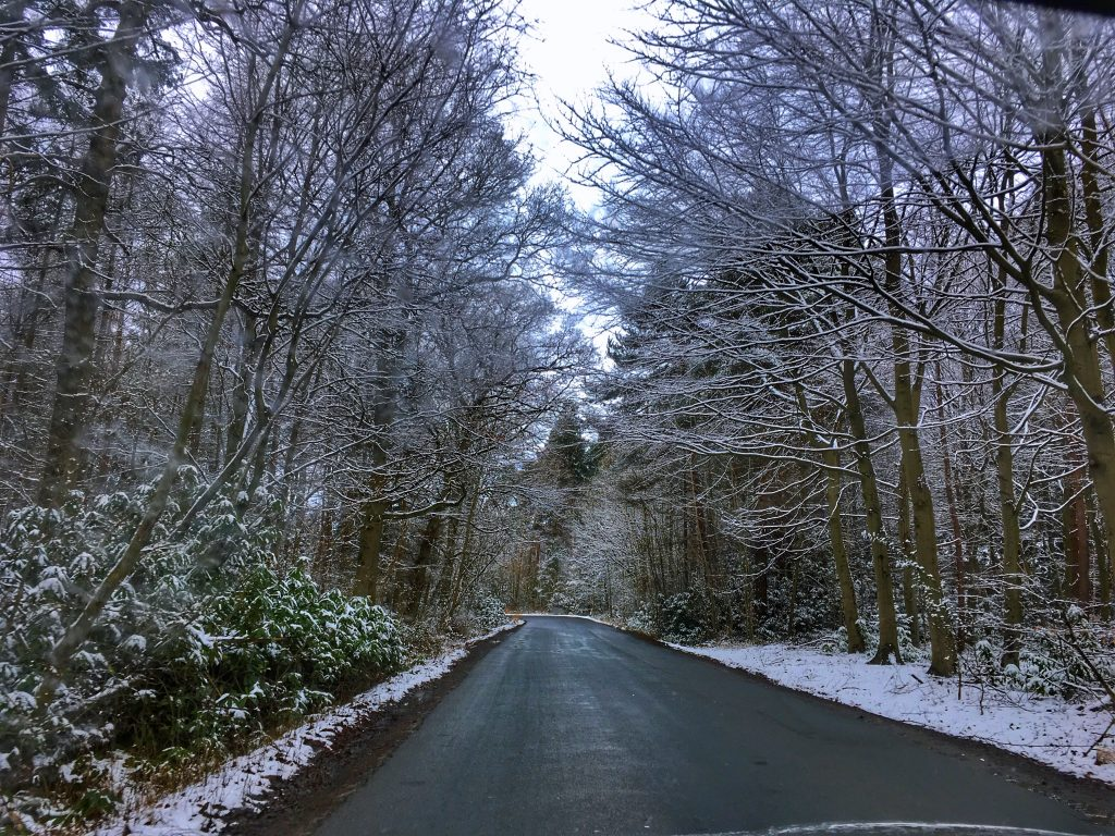 yorkshire winter road drive