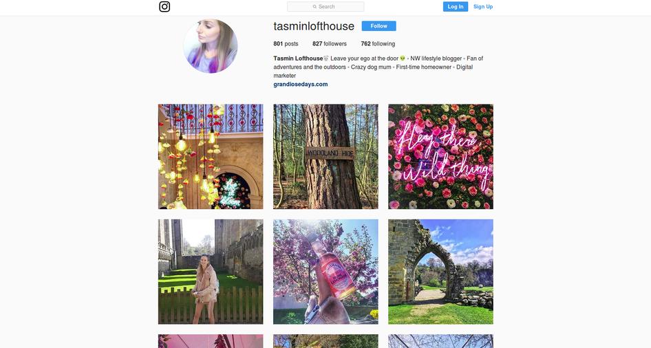 grandiose days tasmin instagram