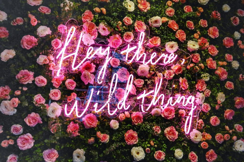 Florist Liverpool bar restaurant neon flower wall