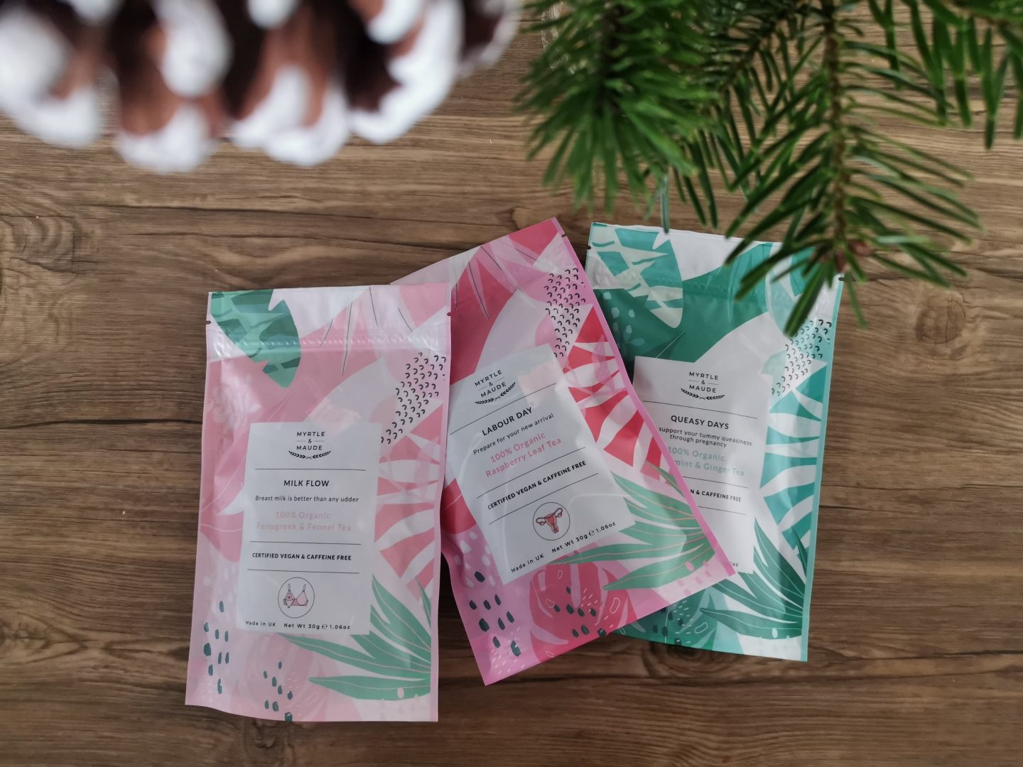 Myrtle and Maud Natural Teas for Pregnancy Labour and Early Motherhood